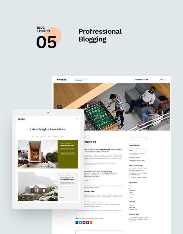 Baroque - Architecture & Interior WordPress Theme - 11