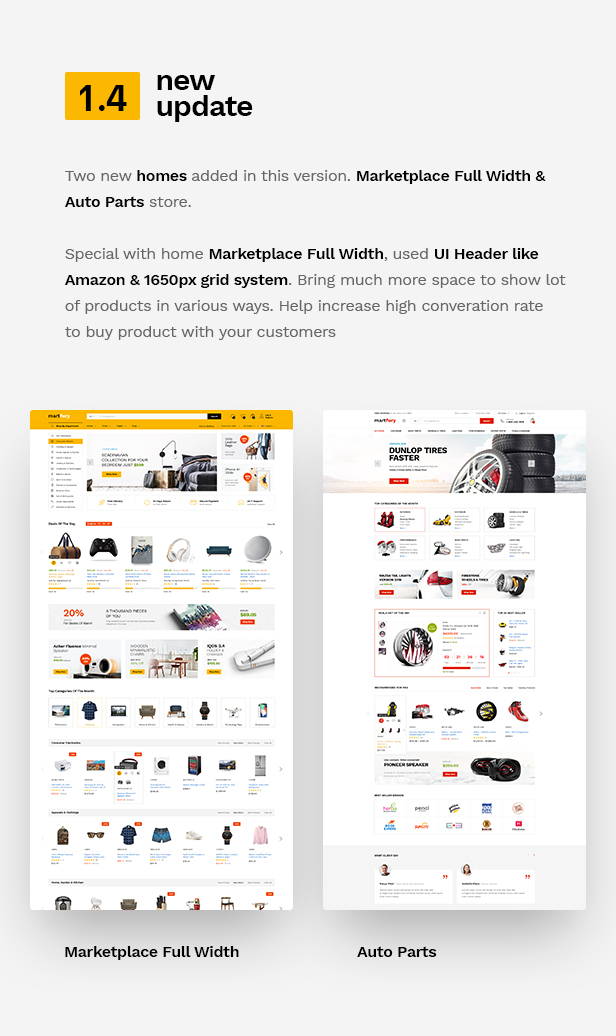 Martfury - WooCommerce Marketplace WordPress Theme - 12